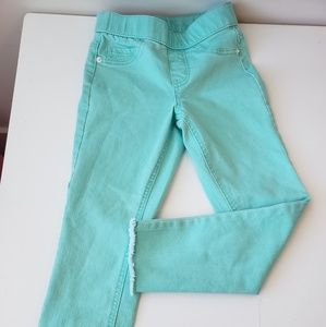 New Justice Aqua Jeggings 8 slim